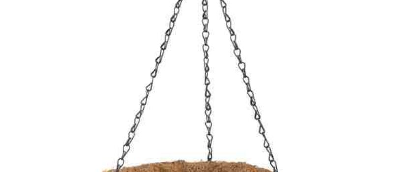 Подвесное кашпо с орнаментом 25 см кокос